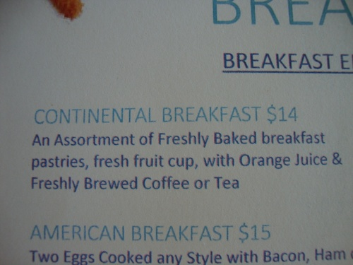 Continental Breakfast - The Complimentary Breakfast Option for Diamond Members