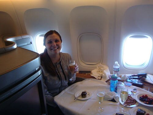 NSPbabysitter Hanging out in Cathay First Class